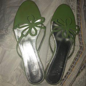 DOLCE & GABBANA size 8 lime green sandals